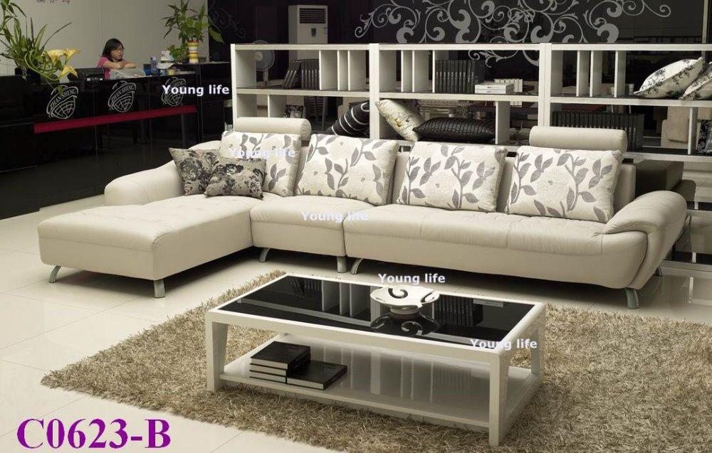 Fashion And Elegant Genuine Leather Sofa Living Room Sofa