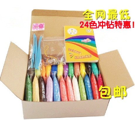 Top quanlity 3d toy color clay super the soil mud diy 24(China (Mainland))