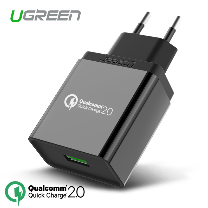 For Qualcomm Certified Ugreen Quick Charge 2.0 18W USB Wall Charger Smart Fast Charger for Samsung S6 Xiaomi for Sony for LG G4(China (Mainland))