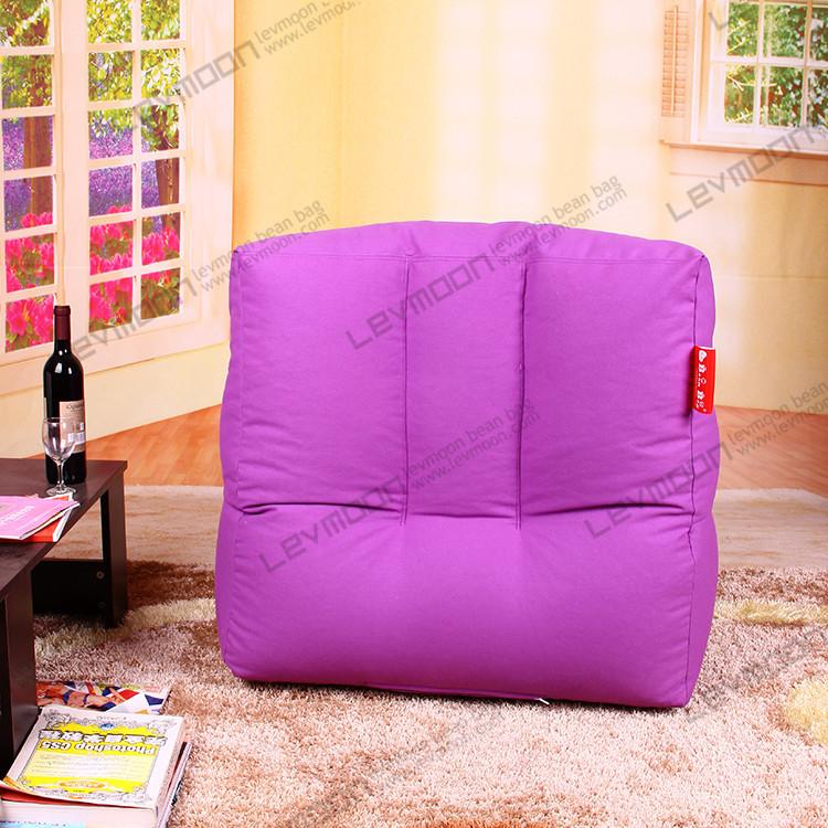 Фотография FREE SHIPPING purple bean bag chair cover bean bags for kids 100% cotton canvas bean bag couch without filling bean bag covers