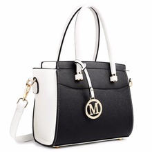 Buy Miss Lulu White Black Women Classic M Leather Handbag Shoulder Tote Hand Bag Cross Body Satchel Best Mother's Day Gift LT1625 for $32.80 in AliExpress store