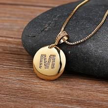 แฟชั่น 26 ตัวอักษรจี้สร้อยคอสำหรับหญิงสาวน่ารักสีทองแดงรอบสร้อยคองานแต่งงานเครื่องประดับ(China)