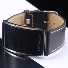 Luxury Fashion Steel Deluxe Slim Unisex Men Women Electronic Sport Casual Genuine Leather Wristwatches Watch Digital