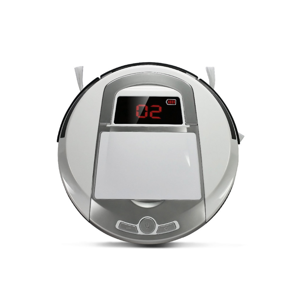 Intelligent Robot Vacuum Cleaner home Slim Robot Sweeping Machine LED Display Automatic Clean On Hard floor & Thin Carpet(China (Mainland))