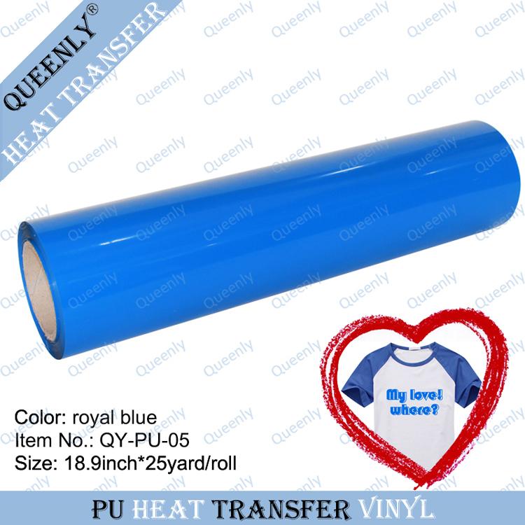 PU transfer vinyl heat transfer film 18.9inch*25yard/roll(China (Mainland))