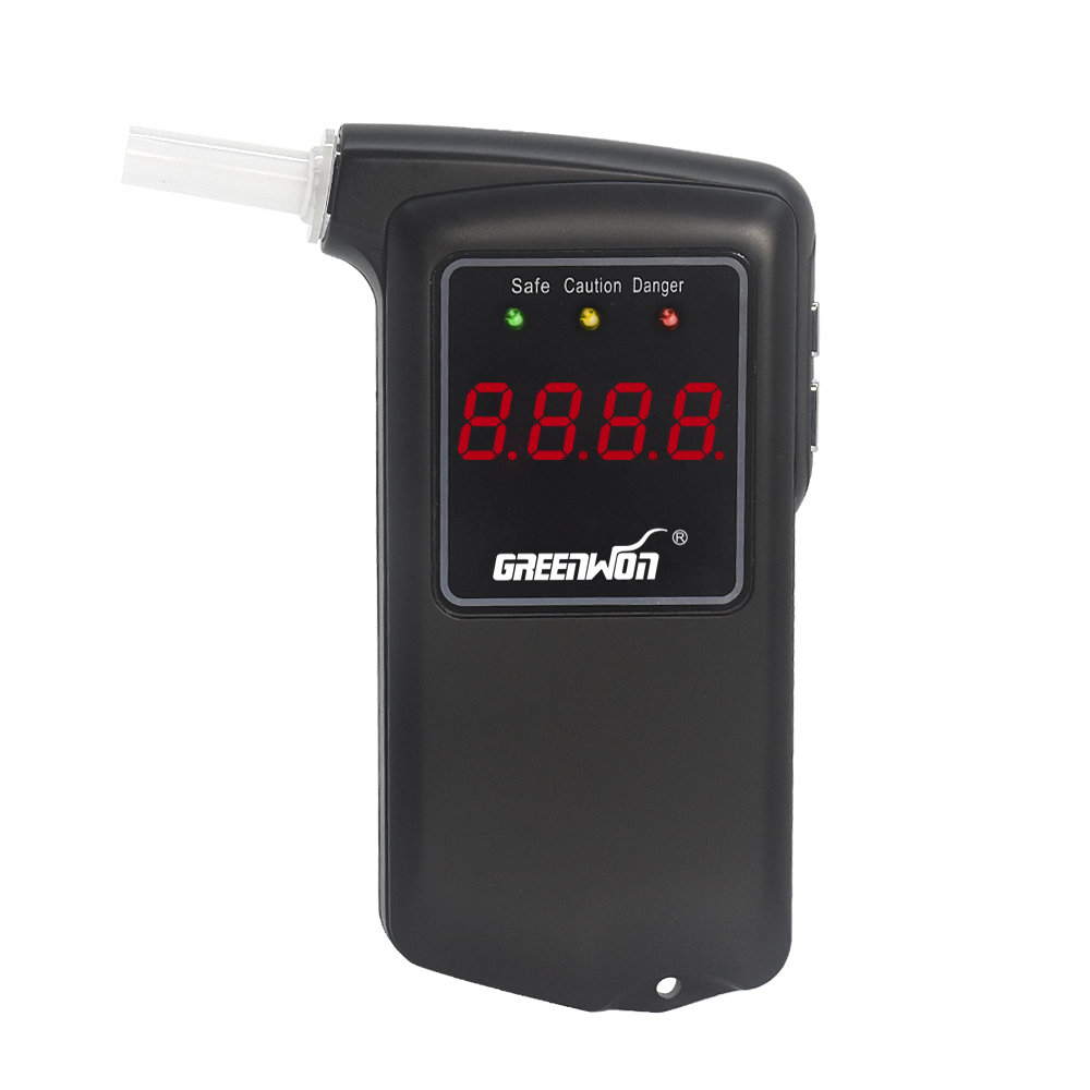 Free shipping 2016 new high accuracy Prefessional Police Digital Breath Alcohol Tester Breathalyzer AT858S with 5 mouthpieces(China (Mainland))