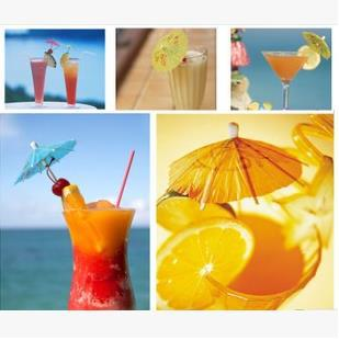 144pcs party bar supplies wine cup decor colorful paper umbrella sign DIY cocktail dessert cake accessory hawaii style(China (Mainland))