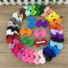 Buy XIMA 2.5inch Grosgrain Ribbon Hair Bows Clip Boutique Hair Ribbon Bows Hairpins Kids Hair Accessories 35pcs/lot for $9.90 in AliExpress store