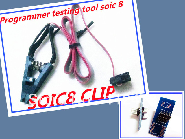 Free shipping!!! Programmer Testing EEprom Clip SOIC8 Clamp with Cable for Tacho Universal DASH Programmer