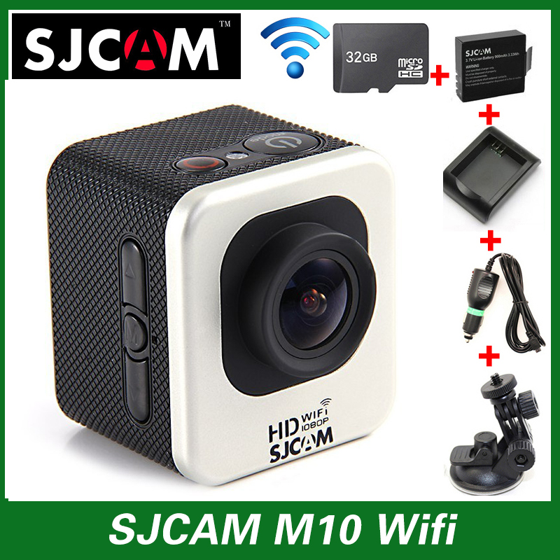 Original SJCAM M10 WIFI Sport Action Camera Full HD Waterproof+Car Charger+Holder+Extra 1pcs battery+Battery Charger+32GB Card(China (Mainland))