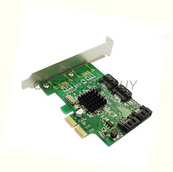 Marvell 88SE9215 Chipset 4 Ports SATA 6G PCI Express Controller Card PCI-e to SATA III 3.0 converter PCI low profile bracket(China (Mainland))