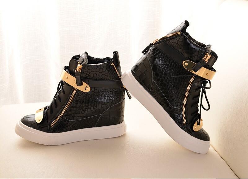 product Gz baru styler pola buaya perempuan sneakers sepatu wedge kulit asli Sepatu kasual Ankle boots isabel sepatu Marant