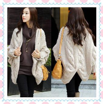 2015 winter shawl new fashion elegant female long knitted cardigan women loose casual twist sweater sweet girls sweaters coats(China (Mainland))