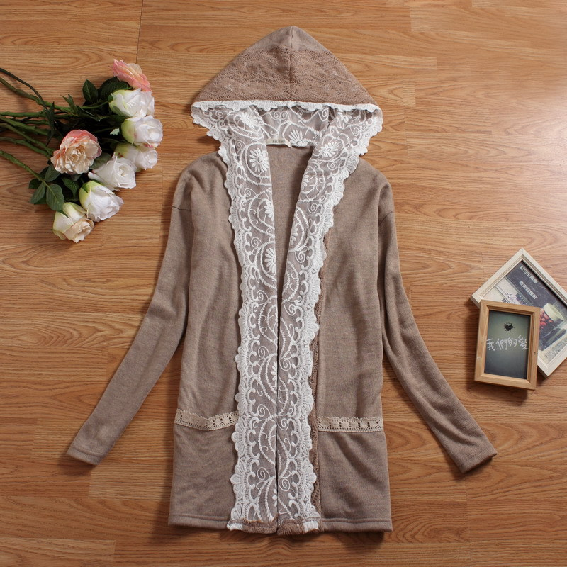 manteaux femme chaquetones de mujer poncho cloak coat woman winter gray lace pathwork mori girl lolita gothic hippie boho lolita