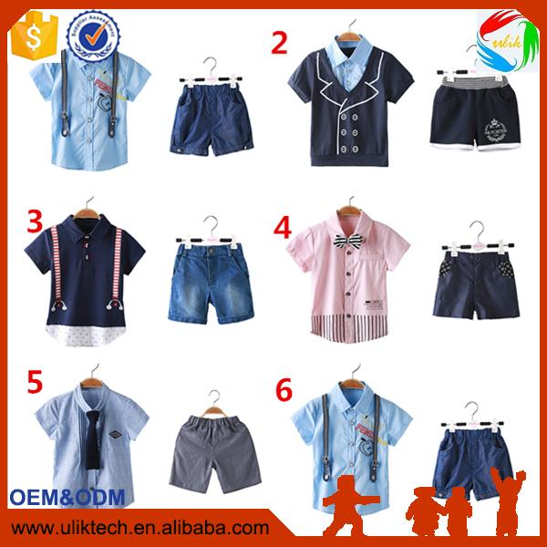 2016 Manufacturer boutique baby boy clothes for 2 pieces