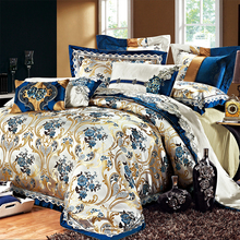 Cozy European luxury high-grade housing home textile bed sets new Satin Jacquard ten piece(China (Mainland))