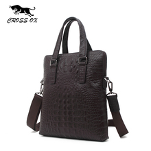2016 Hot CROSS OX Cowhide Genuine Leather Men Bag Business Alligator Men's Crossbody Bags High Quality Male Fashion Bags HB532M(China (Mainland))