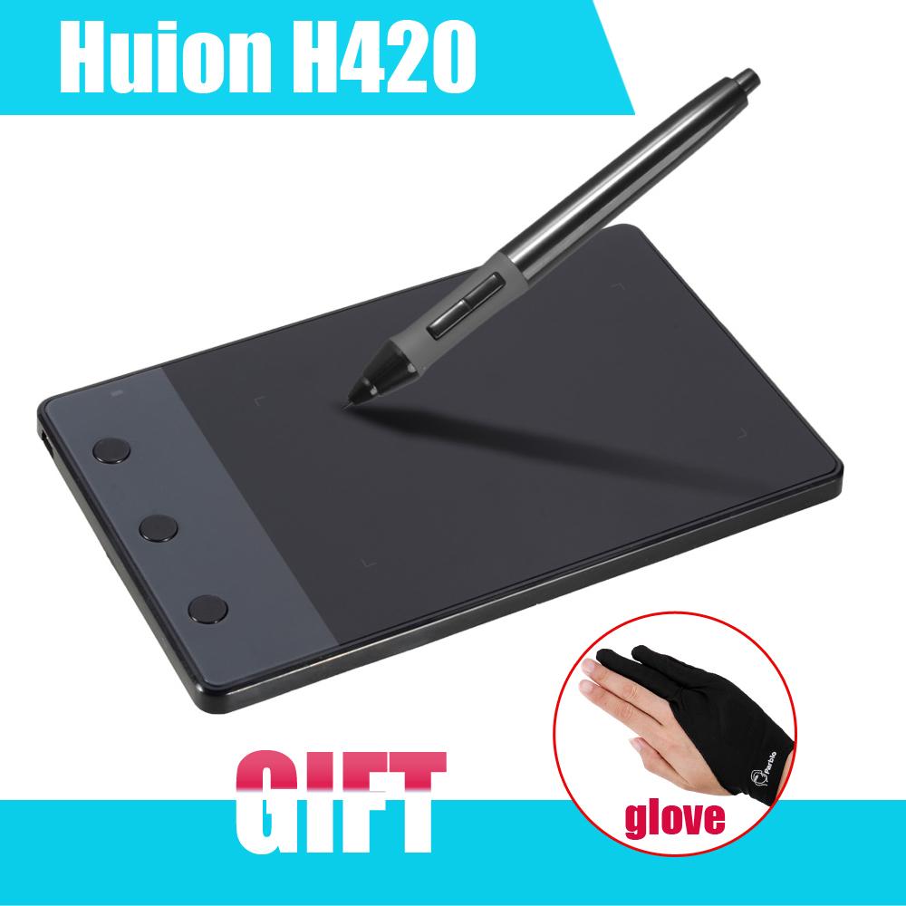 "HUION H420 4 x 2.23"" Signature Art Design Professional Graphics Drawing Tablet tableta grafica USB Digital Pen For PC Computer(China (Mainland))"
