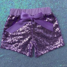 Lilac Sequin Shorts girls Purple Sequin shorts,the first baby sequin shorts,first birthday glitter lavender shorts(China (Mainland))