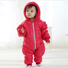 High Quality Baby Rompers Winter Thick Cotton Boys Costume Girls Warm Clothes Kid Jumpsuit Children Outerwear Baby Wear etll0007(China (Mainland))