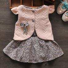 New 2016 Spring Baby Girl Cotton Dresses Sleeveless Beautiful Flower Baby Kids Clothing Free Shipping(China (Mainland))