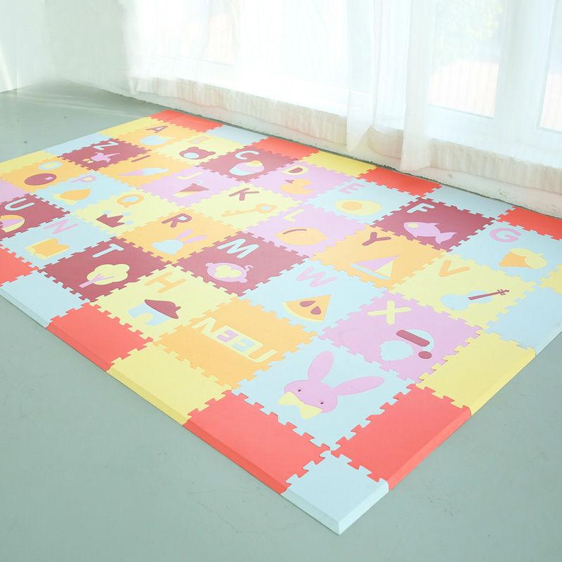 28pcs/set (2.52 square meter) letter cartoon jigsaw puzzle mats children safety Puzzle carpet baby playmat EVA foam carpet(China (Mainland))