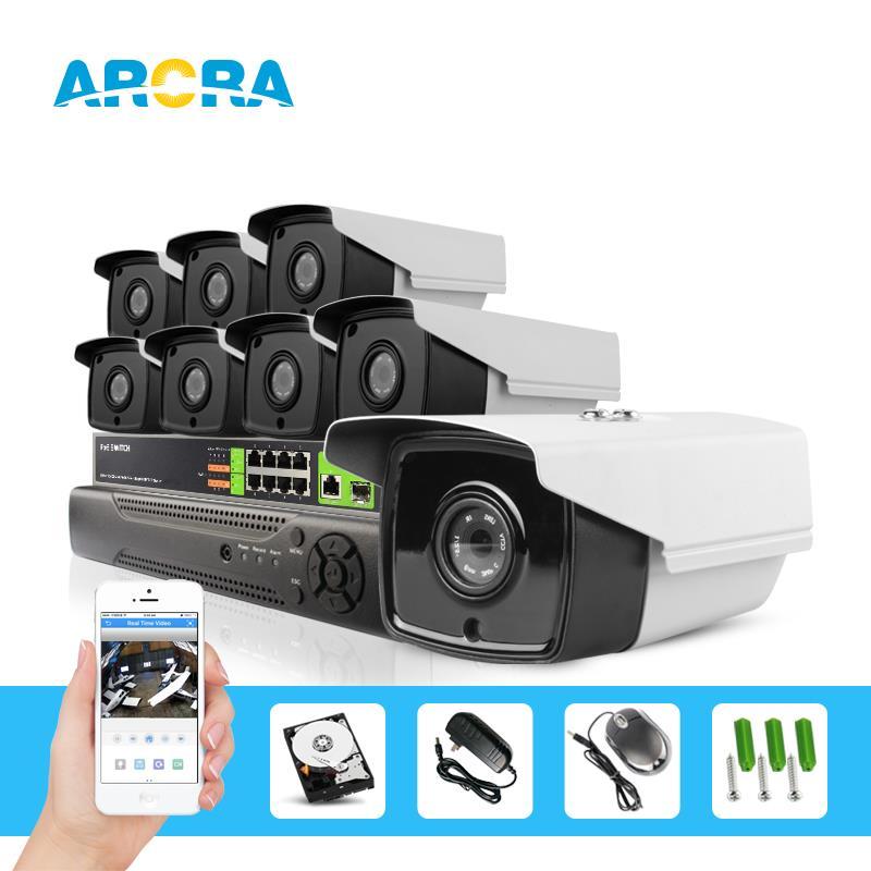 8CH 1080P PoE NVR Recorder System Kit ip Camera 1.3mp 960P Onvif p2p cctv camera System 8 Channel 48V real POE NVR CCTV System(China (Mainland))