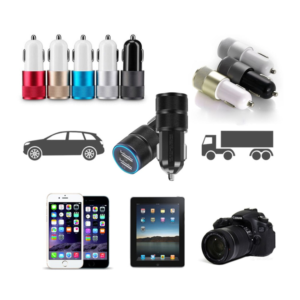 Universal Dual 3.1A 2 Port USB Car Charger Adapter For Smart Phone Cell Phone Universal