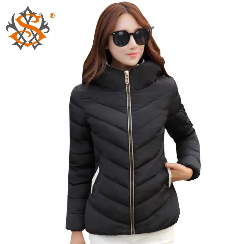 2015 Warm Winter Jacket Women Hooded Parka Long Sleece Appliques Cotton-Padded Slim Cotton Jacket Coat Plus Size XXXL
