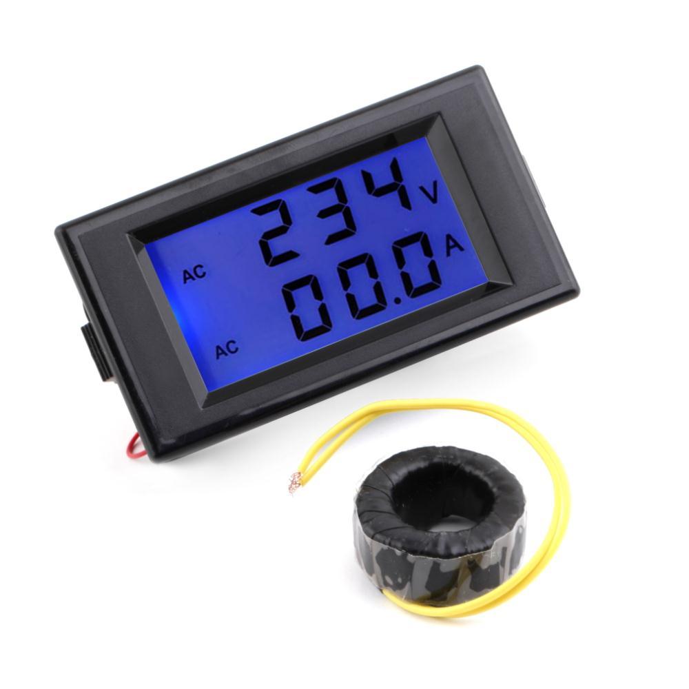 Гаджет  1 Pcs Black AC Digital Ammeter Voltmeter LCD Panel Amp Volt Meter 100A 300V 110V 220V DropShipping None Инструменты