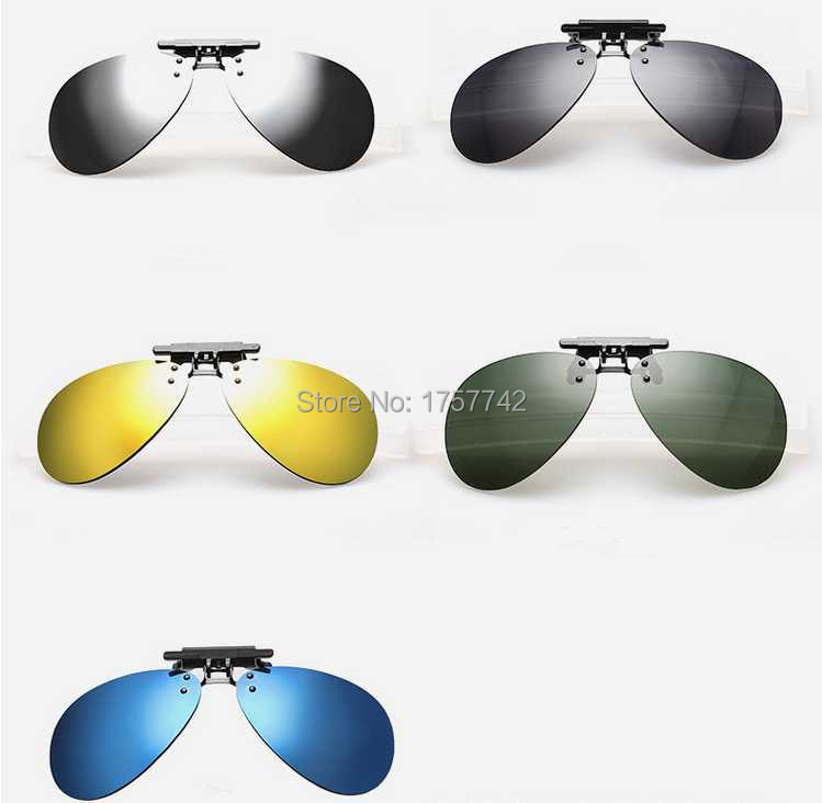 Newest Hot Men/Women Coating Myopia Clip Sun Glasses Night Vision Driving Glass Eyeglasses Frame Sunglasses Clip Polarized Lens(China (Mainland))