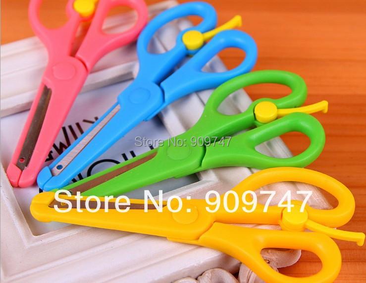 children stationery art Scissors Decorative Craft school DIY Scrapbook Handmade Kids Artwork Card Safe Scissors(China (Mainland))