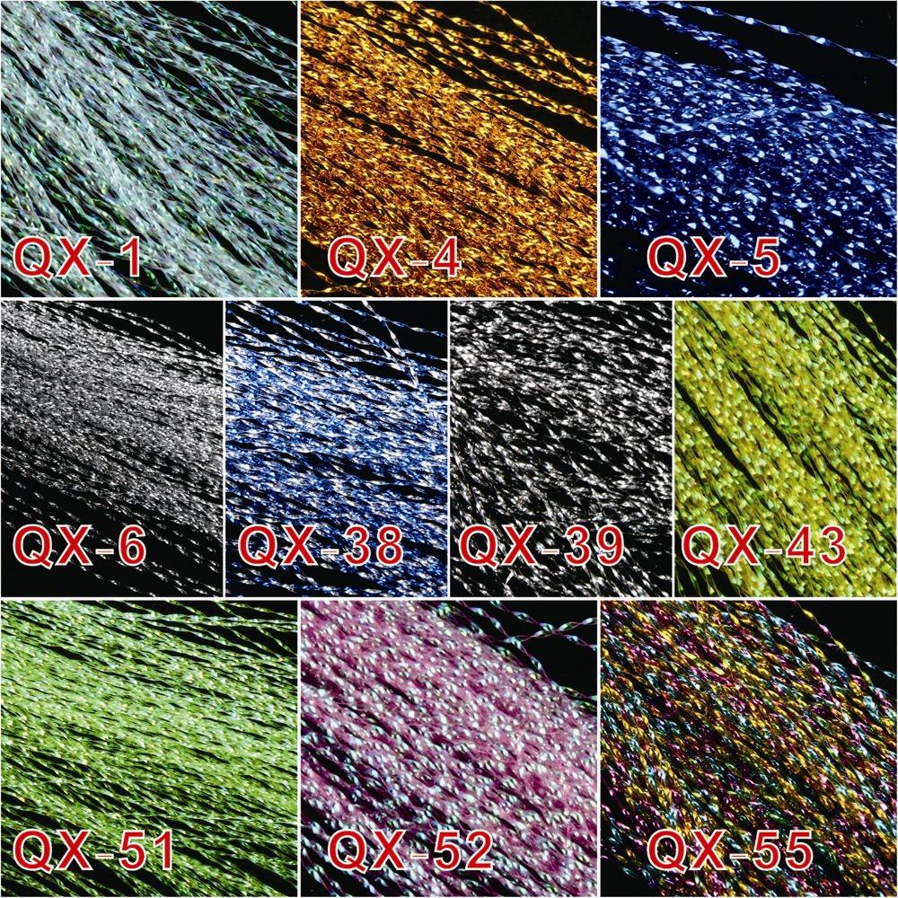 Гаджет  Free shipping!! 10 colors, 20 bags fly fishing tying Crystal Flash String JHook Flashing Line fly fishing tying material None Спорт и развлечения