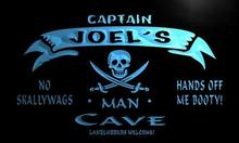 x0133-tm Joel's Private Quarters Pirate Man Cave Custom Personalized Name Neon S(China (Mainland))