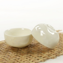 50ML White Kung Fu Teacup Tea cup Ceramics Ceramic bowl small white wine - Jingdezhen family store