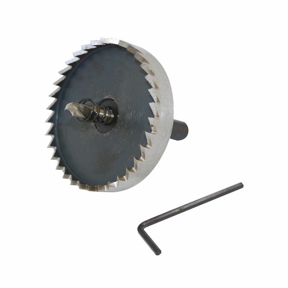 9mm Triangle Shank 60mm Diameter Metal Cutting HSS 6542 Hole Saw Twist Drill Bit <br><br>Aliexpress