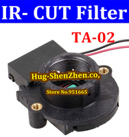 High Quality  1pcs IR cut filter IR-CUT for CCTV camera double filter dual filter IR CUT M12 lens holder free shipping