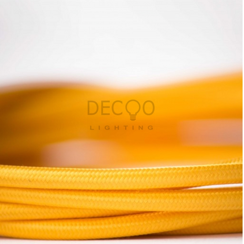 Fabric Lighting Textile Cable Edison Vintage Textile Power Cord Electric Wire Yellow(China (Mainland))