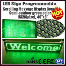 """free shipping led programmable  signdisplay board 40""""x8"""" Semi Outdoor 25X105mm 16X96 pixel led scrolling message display signs(China (Mainland))"""