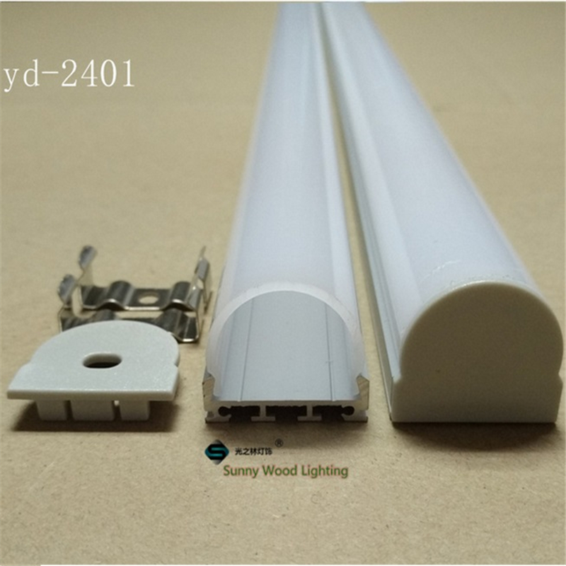 Free shipping Led channel for strips,  aluminium profile for led strip of 24mm pcb with fittings YD-2401<br><br>Aliexpress