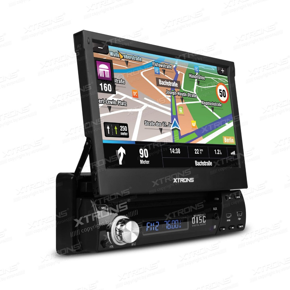 "XTRONS 7"" HD Touch Screen Car DVD Player Radio GPS Navigator 1din Audio Car Stereo DVD automotivo 1 Din(China (Mainland))"