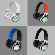 4 kinds of LED Adjustable Headband Wired Bluetooth Sport Stereo Handsfree Headphone Earphone