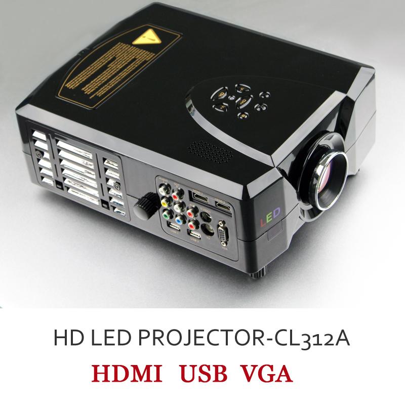 Free shipping ! led projector hd with 2200 Lumens, Media Player and HDMI VGA USB(China (Mainland))