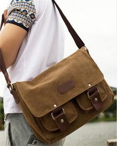 2014 New Fashion Men's Vintage Canvas School Messenger Bag Satchel Brand Military Men Laptop Shoulder Messenger Bag(China (Mainland))