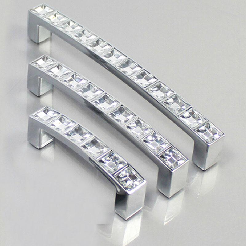 Crystal Diamond Furniture Hardware Handle Door Drawer Wardrobe Kitchen Cabinets Cupboard Pull Knobs Handles Accessories(China (Mainland))