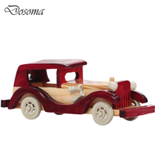 Retro Wooden Classic Car Model Children's Toys Home Solid Wood Puzzle Toy Cars Crafts Decoration Simulate Mini Automobiles Gift(China (Mainland))