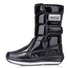 Giày Bốt Nữ Chống Thấm Nước Mùa Đông Giày Nữ Ủng Nền Tảng Giữ Ấm Giữa Bắp Chân Mùa Đông Giày Với Bộ Lông Dày Gót botas Mujer(China)