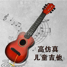 Six children guitar Can play the type The baby wooden guitar birthday gift Children's Musical Instruments sound toys(China (Mainland))