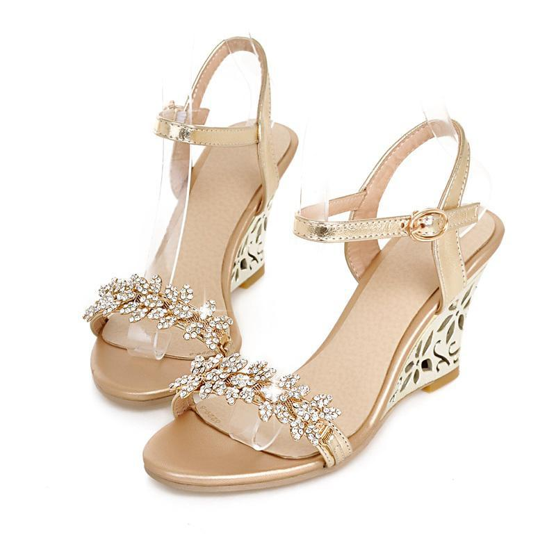 silver rhinestone wedge wedding sandals photography website