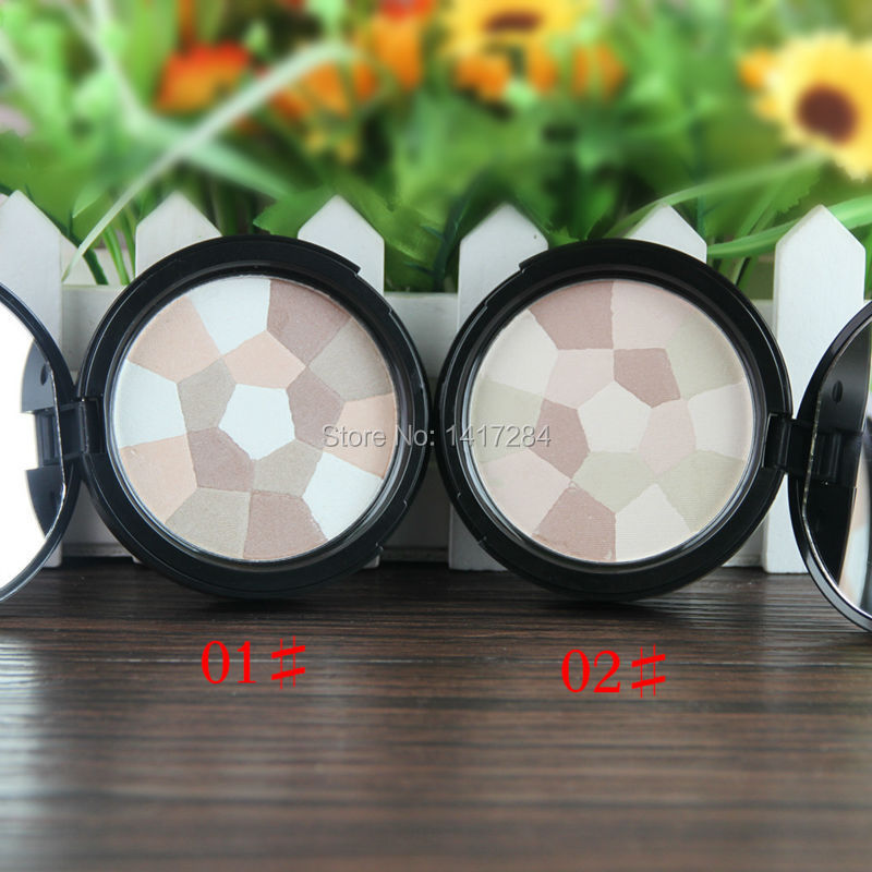 Sugar box Make up Face Oil-Control Multi-Colored Pressed Powder Compact Bare Minerals Nude Glow Finishing Perfescting Setting(China (Mainland))